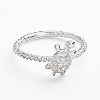Silver Tone Simulated Crystal Turtle Ring::: How perfect would it be if Tyler got me this.? It would match my necklace wonderfully. ;)