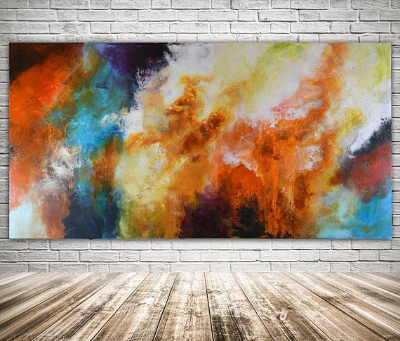 Abstract Original Painting Painting On Canvas Navy Blue Orange Landscape Abstract Original Painting Mixed Media Art Modern Painting Huge Abstract Art Modern Art Abstract Blue Abstract Painting