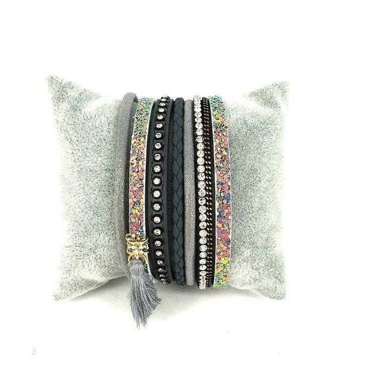bracelet multitours tendance  #braceletmanchette