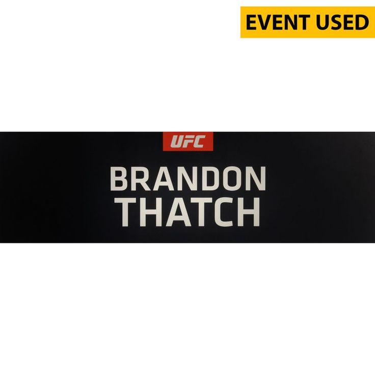 Brandon Thatch Ultimate Fighting Championship Fanatics Authentic UFC 189 Event-Used Locker Room Nameplate