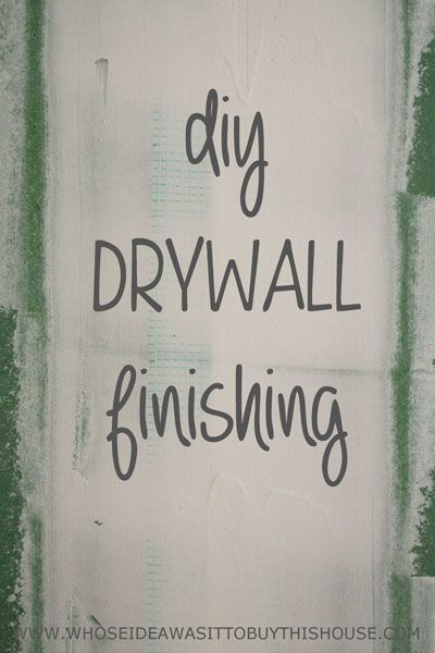 How to finish drywall. If we can do it, you can do it too!
