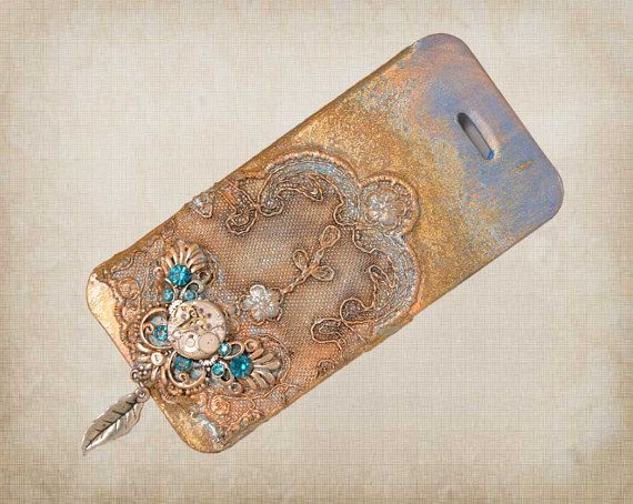 3d Steampunk iPhone 5 case  Charm iPhone 5 by ShabbyChicToVintage, $50.00