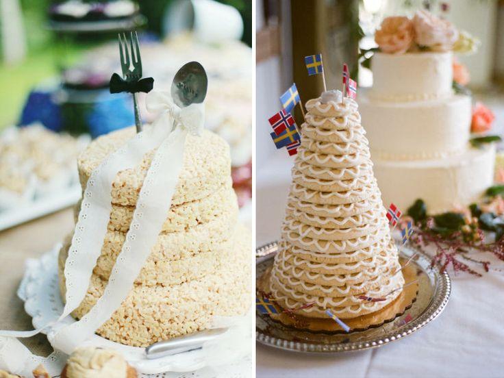 unique wedding cakes non cake reception desserts rice krispies