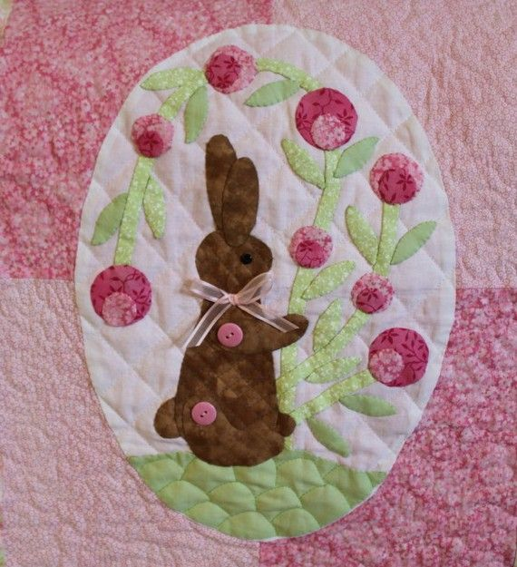 Loveable Bunny Quilt by girlsaresweet on Etsy, $95.00