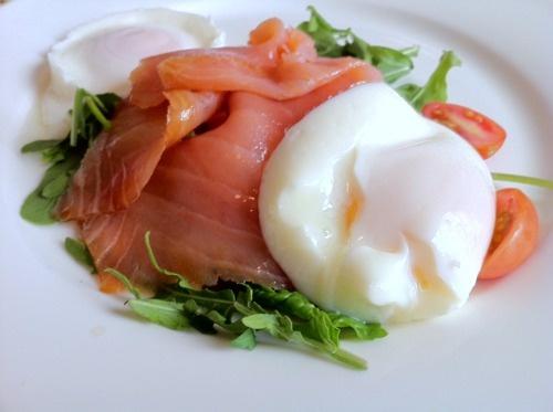 Smoked salmon and poached egg