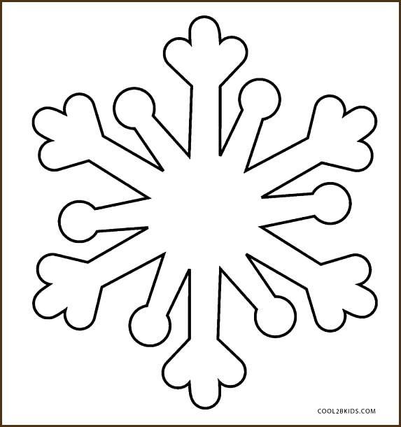 druckbare schneeflocke malvorlagen für kinder  snowflake