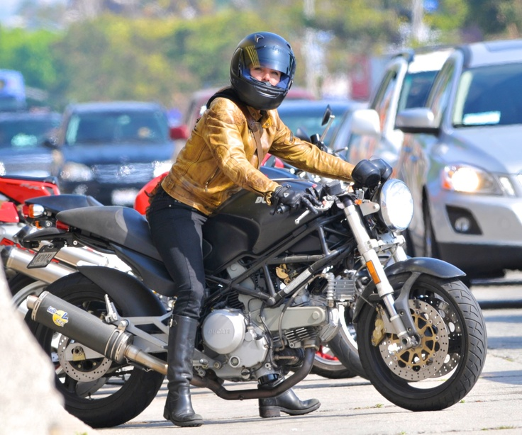 Elsa Pataky Of Fast Five Riders A Ducati Monster When She