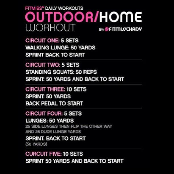 #FitMiss #HomeWorkout #OutdoorWorkout  FYI: 50 yards=150 feet - @iamfitmiss- #webstagram