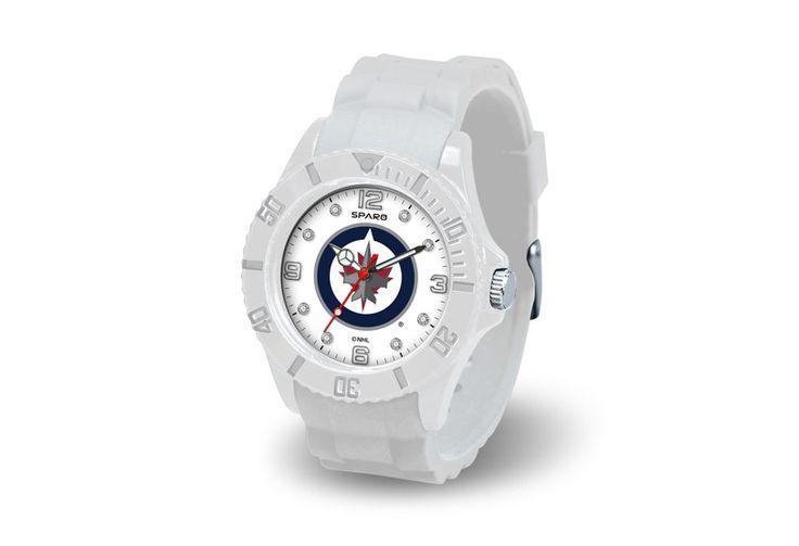 Winnipeg Jets NHL White Cloud Wrist Watch