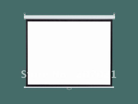 Горячая продажа! 92 inch Matte White 16:9 проекционный экран Ручной экран Руководство проекционный экран (SGS сертификат СЕ)