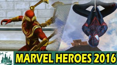 Iron Spider Man Miles Morales Spider Man Team Up | Marvel Heroes 2016 Gameplay