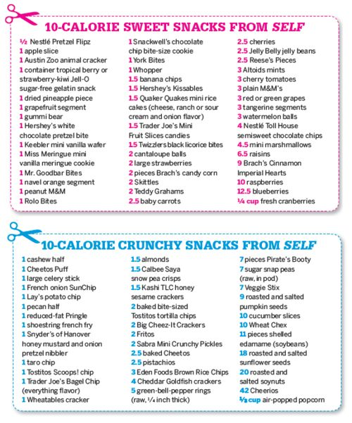 Crunchy/ Sweet Low Calorie Snacks