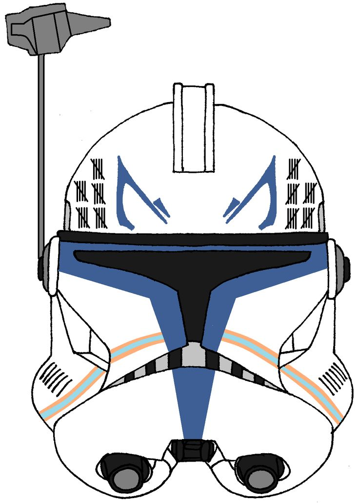 Clone Trooper Captain Rex's Helmet 3 | Captain Rex ...