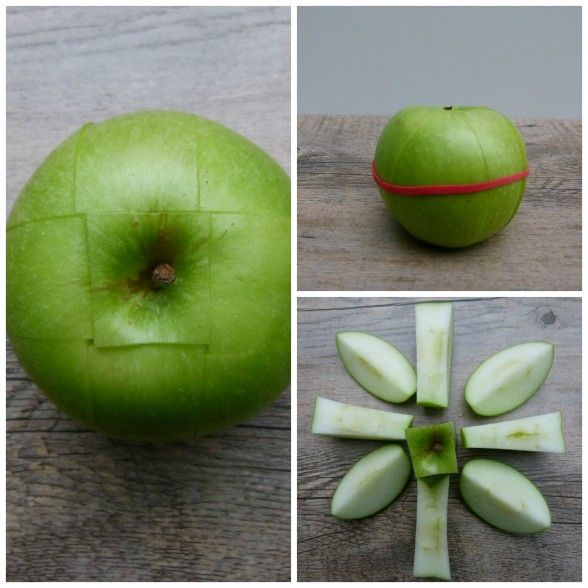 cut apples stays nice and fresh with this little trick! #lunch #schoollunch #apples
