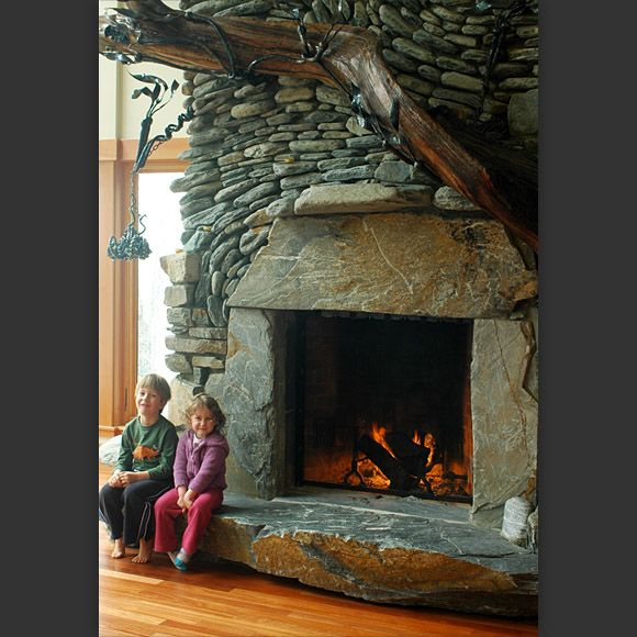 22 best Unique Fireplaces images on Pinterest | Stone fireplaces ...