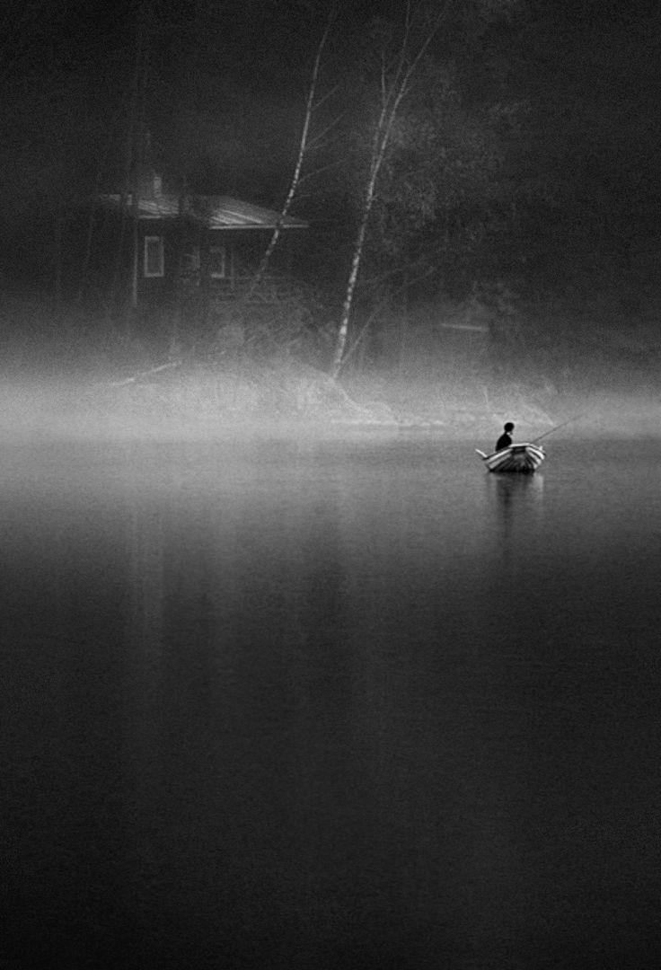 silence: Amazing Photography, Foggy Paradise, Lakes, Black White, Unknown Photography