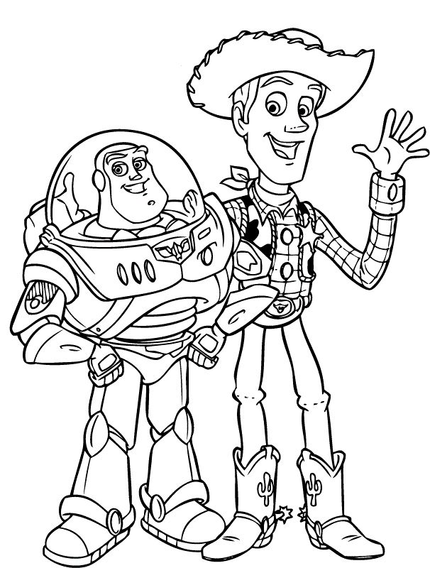 find this pin and more on coloring pages buzz and woody - Buzz Lightyear Coloring Pages Printable