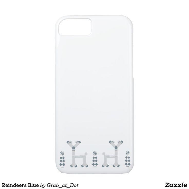 Reindeers Blue iPhone 8/7 Case
