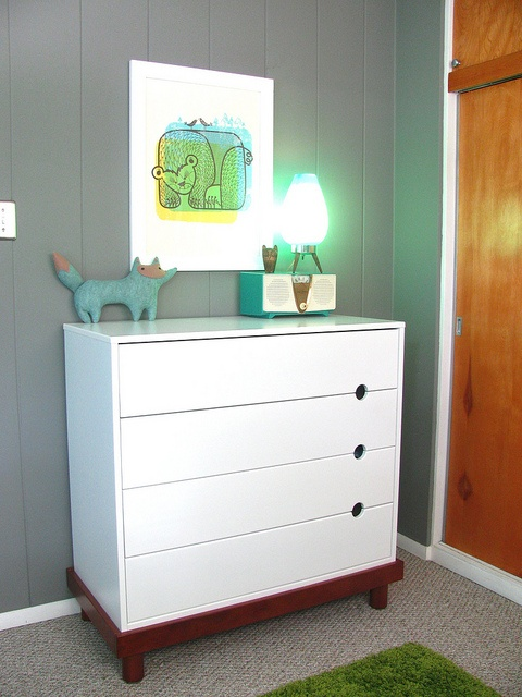 Love the overall look of this entire modern kids room