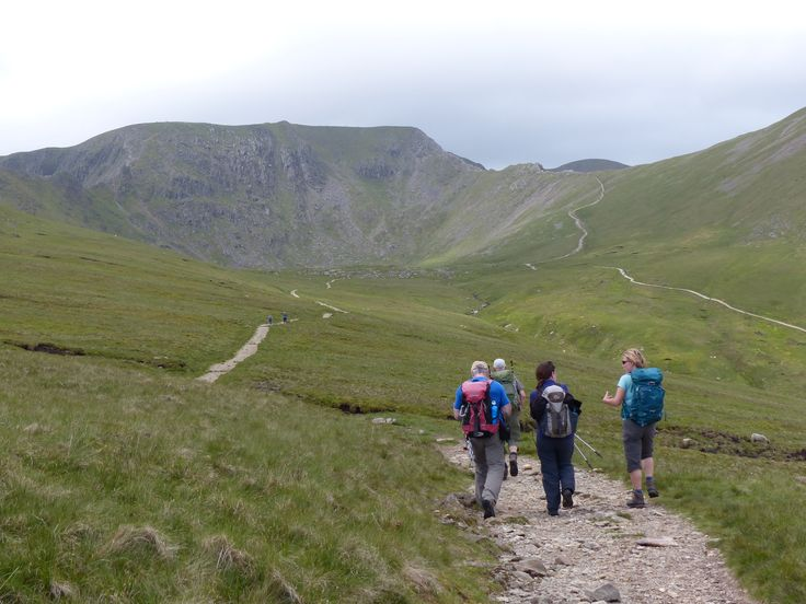 Walking towards Helvellyn Lake District