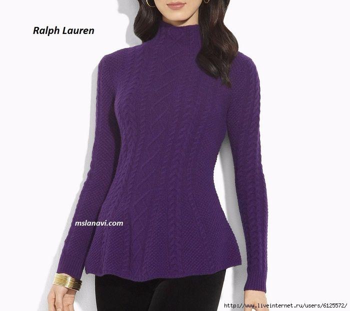 Вязаный-свитер-спицами-от-Ralph-Lauren (700x622, 181Kb)