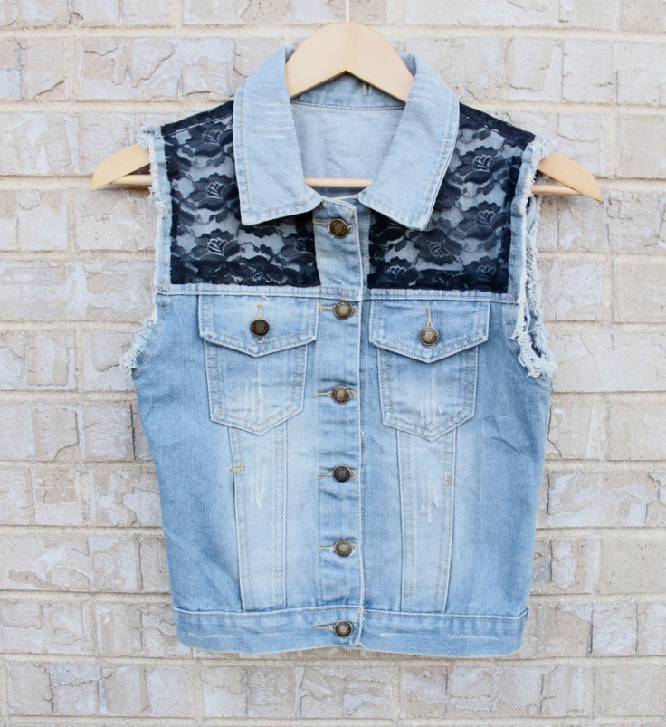 Lace Denim Vest idea