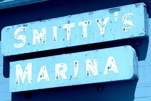 Smitty's Marina Sign Gibsons Sunshine Coast BC Canada