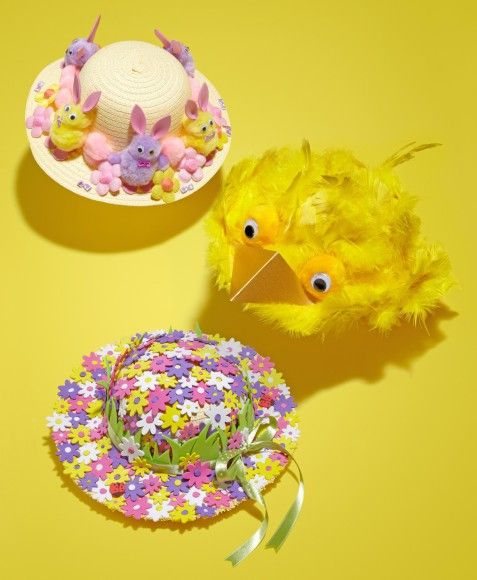 Three Easy Easter Bonnet Ideas for the Kids #Easter #EasterBonnet #KidsCraft