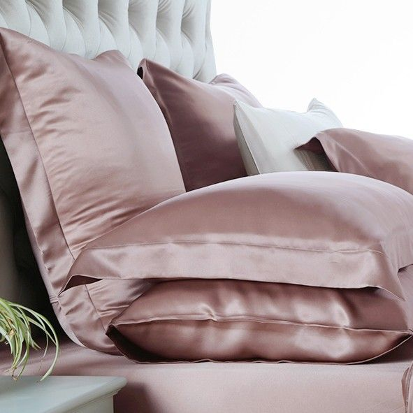 raisin silk duvet cover set (apparently silk pillow cases are good for your hair)