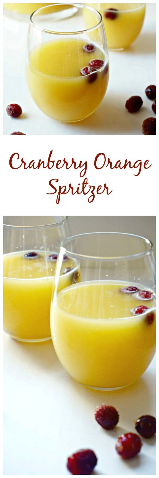 Cranberry Orange Spritzer: A simple, festive orange and cranberry ...