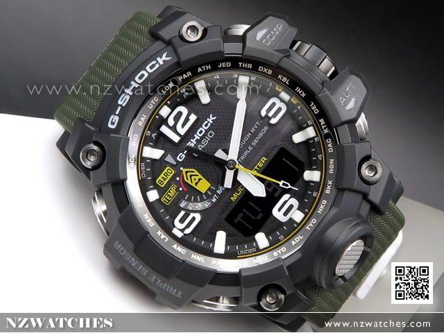 BUY Casio G-Shock MUDMASTER Triple Sensor Solar Multiband 6 Watch GWG-1000-1A3, GWG1000 - Buy Watches Online | CASIO NZ Watches