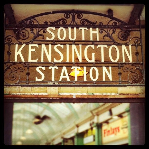 Home from home at South Kensington, London. TAKE ME BACK