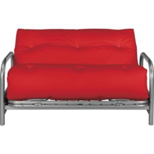 Buy mexico futon sofa bed with mattress red at for Sofa bed for xmas