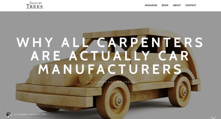 What would your reaction be if I told you that carpenters are in fact car manufacturers? A Tales by Trees article by Vili Maunula. Read from: http://www.talesbytrees.com/carpenter-etymology/