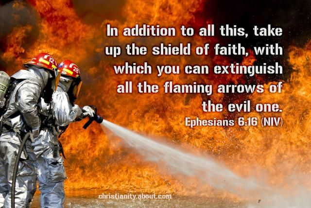Flaming Arrows - Ephesians 6:16 - Verse of the Day