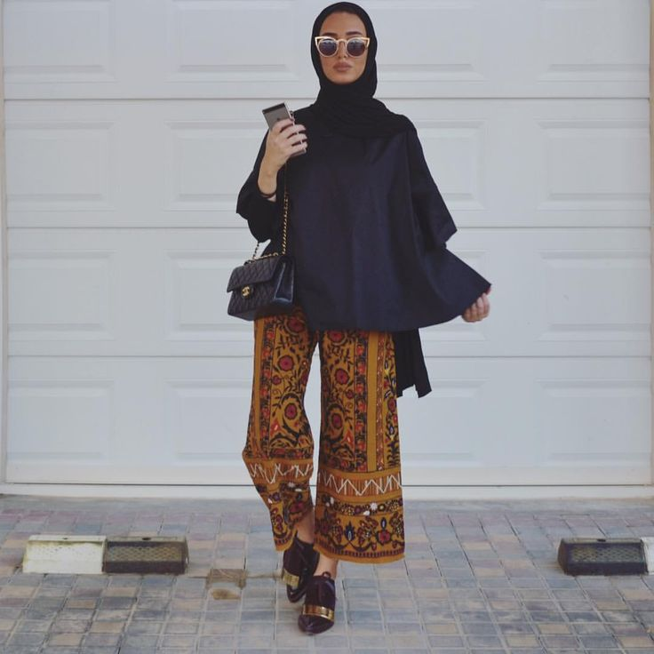 Patterned pants on trend