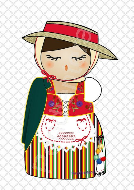 Kokeshi canaria (La Orotava) http://iluztracion.wordpress.com