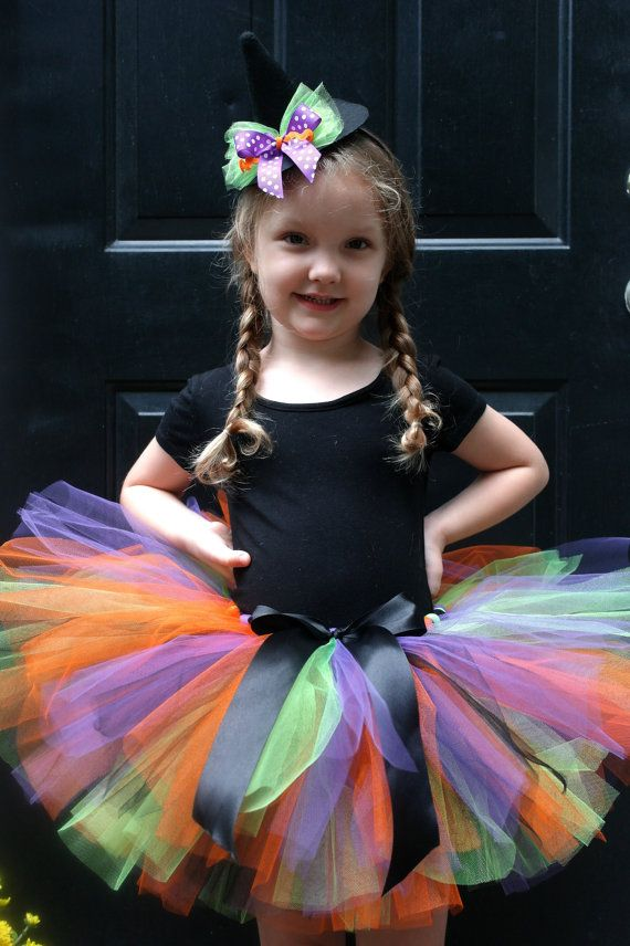 Baby Girl Witch Costume  Halloween Witch Tutu by MommyandThings