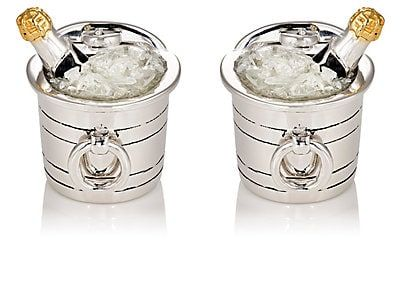 We Adore: The Champagne Bucket Cufflinks from Jan Leslie at Barneys New York
