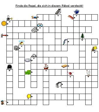 Bilder-Kreuzworträtsel zu Doppelte Mitlaute