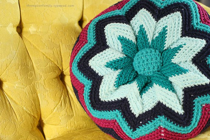 Crochet pillow free pattern.