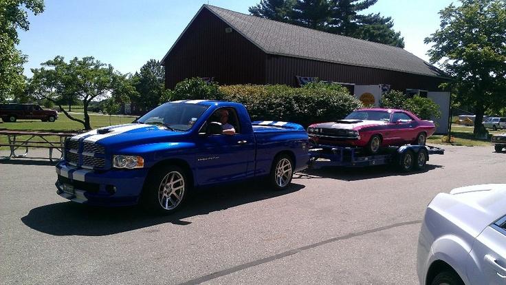 Dodge Ram srt 10 and 1970 Challenger..