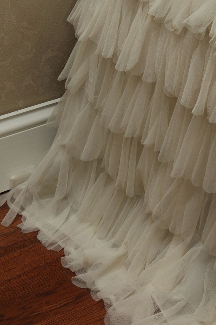 Couture Dreams   - Chichi Ivory Bed Skirt, $360.00 (http://www.couturedreams.com/chichi-ivory-bed-skirt/)