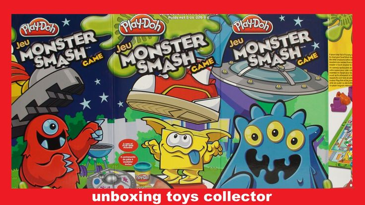 Monster Smash Game Play-Doh Fun Toys Review Learn Colours with PlayDough...