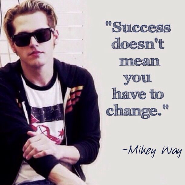 mikey way giving advise in a cm punk shirt I can't think of anything better