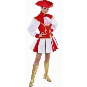 Costume déguisement majorette adulte robe avec jupe rouge et blanche, qualité deluxe de Magic by freddy's pour fêtes. http://www.baiskadreams.com/2939-costume-majorette-femme-rouge-blanc-deguisement-deluxe.html