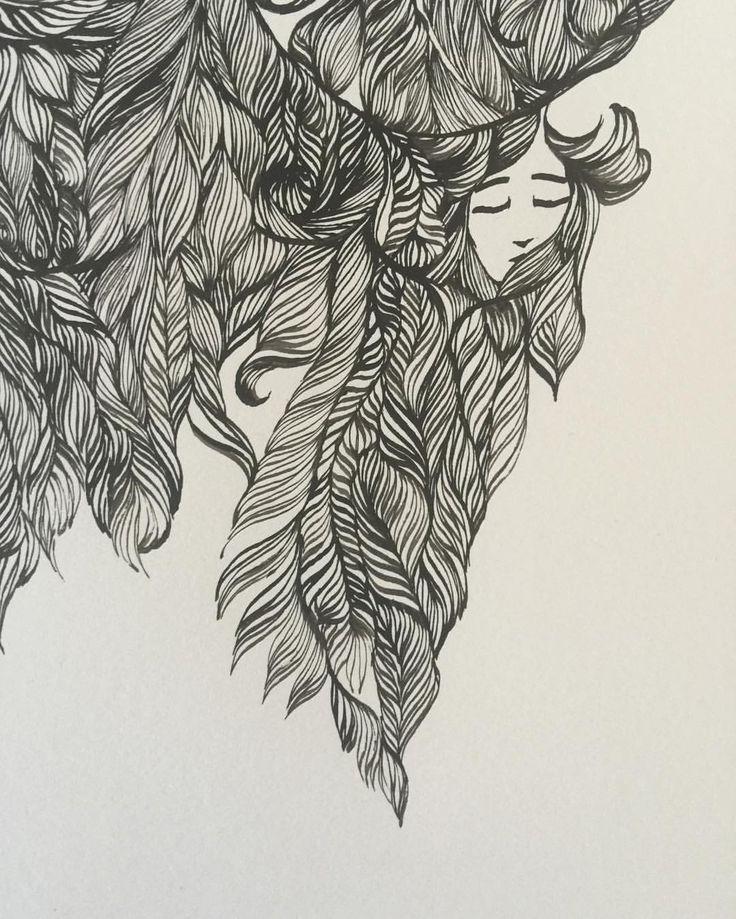 Ashya Lane-Spollen. WIP. Day 5's new faces. 2/3 #illustration #illustrator #art #artist #artlife #artblog #artblogger #ink #quill #blackandwhite #woman #women #hair #style #beauty #beautiful #girl #serenity #peace #dream #french #france #irish #ireland #vulnerable #sea #ocean #magic