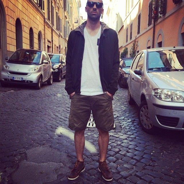 #jacket#esemplare, #tshirt#neilbarrett, #shorts#reds, #shoes#redwing, #sunglasses#retrosuperfuture