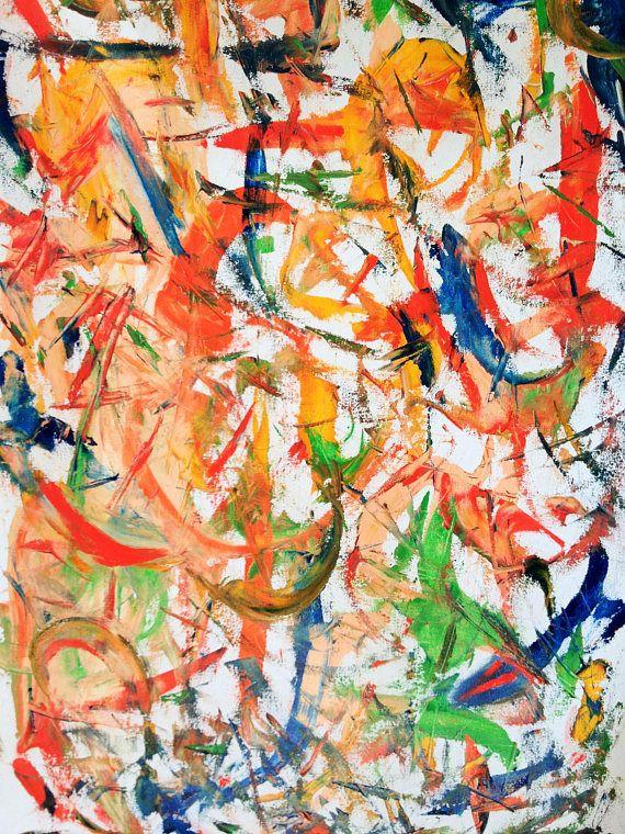 Oil abstract painting-wallart-original art artforliving room