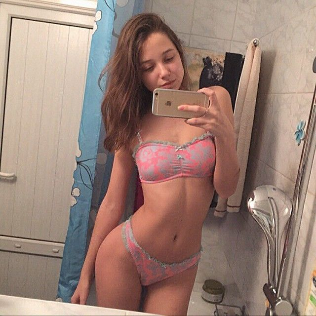 young teens in bikinis bathroom